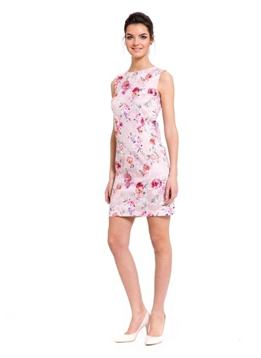 LC Waikiki Çiçekli Mini Elbise Pembe